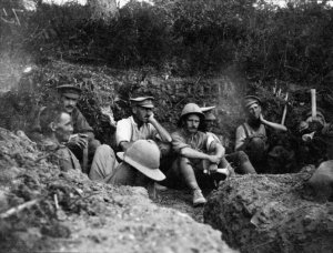 Read, James Cornelius, 1871-1968. Soldiers occupying a trench during the Gallipoli campaign. Read, J C :Images of the Gallipoli campaign. Ref: 1/4-058130-F. Alexander Turnbull Library, Wellington, New Zealand. http://natlib.govt.nz/records/23235687